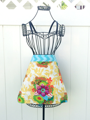 Colorful Mother's Day Apron Sewing Pattern