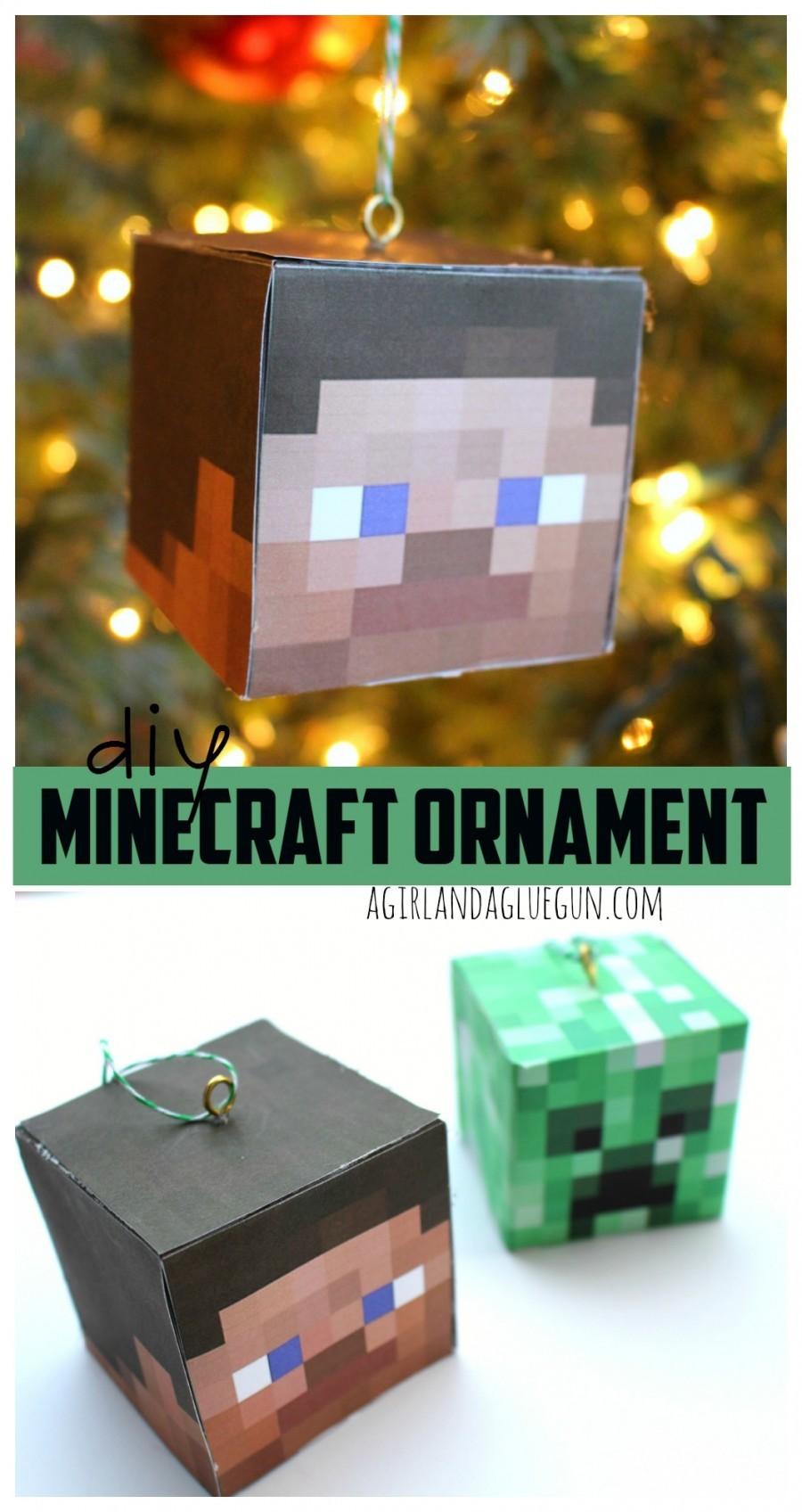 Diy minecraft ornament for Minecraft crafts for kids