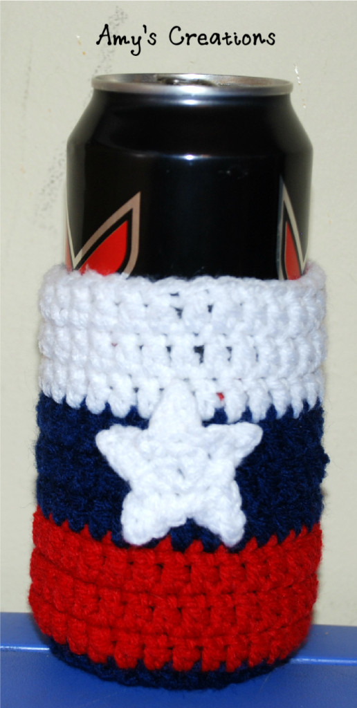 Striped Crochet Can Cozy Allfreecrochet Com