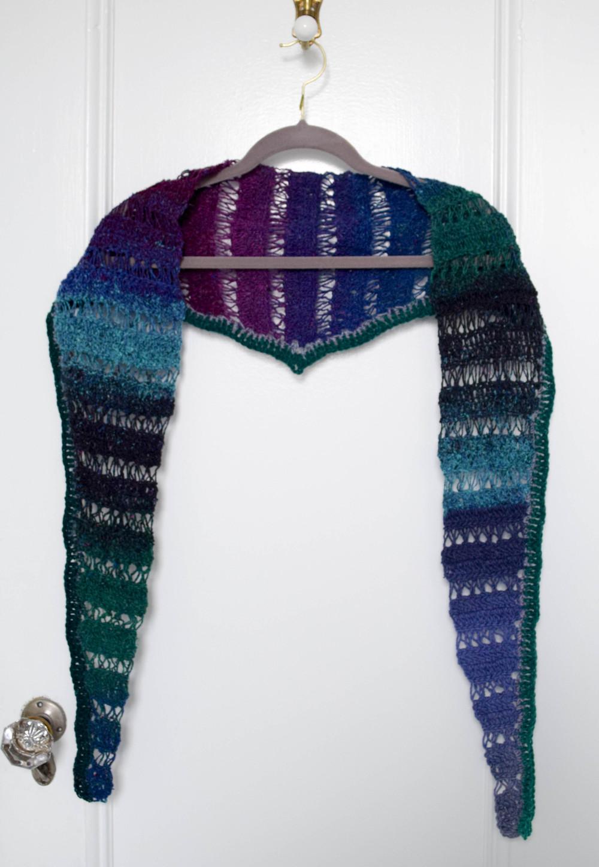 Broomstick Lace Crochet Shawlette Allfreecrochet Com