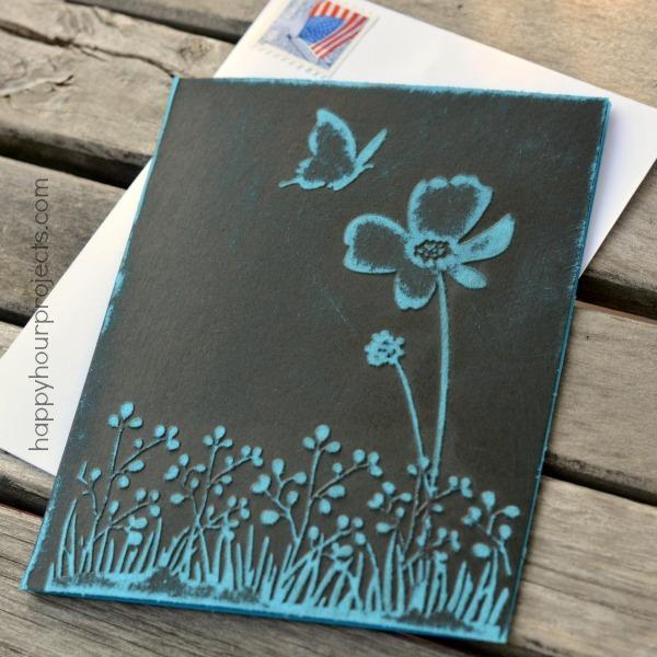 Pretty DIY Embossed Greeting Card