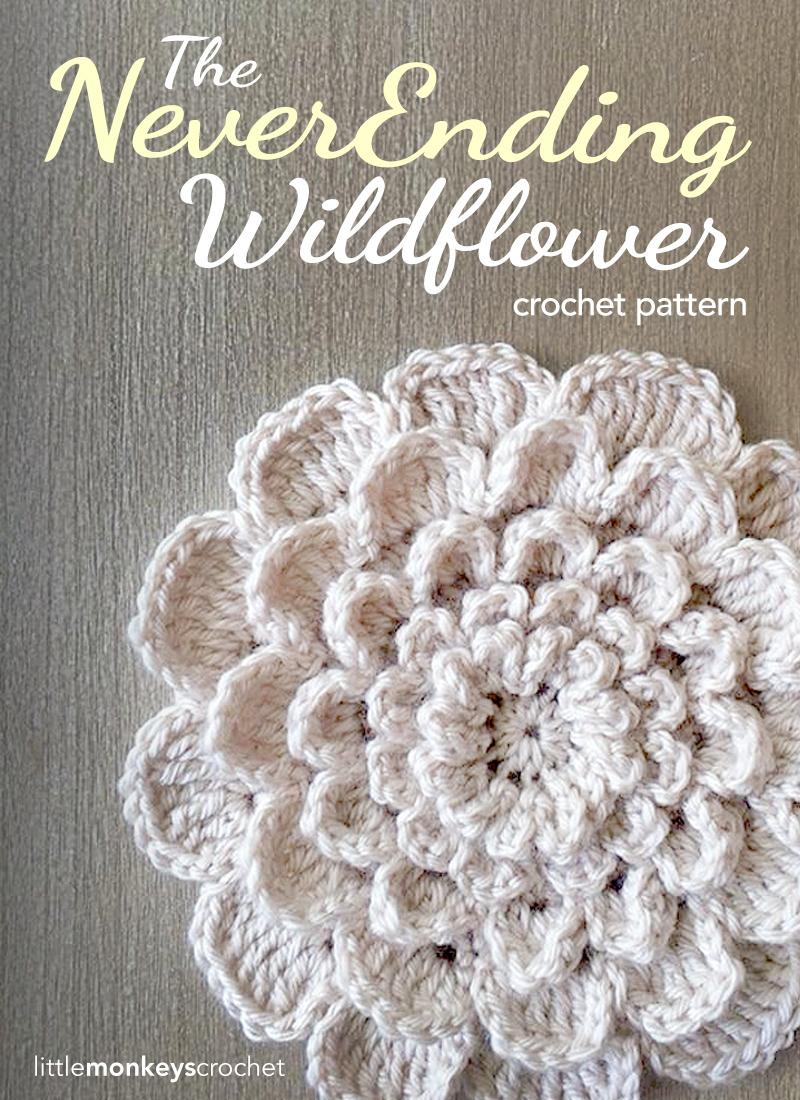 Crochet Flower Applique Allfreecrochetcom