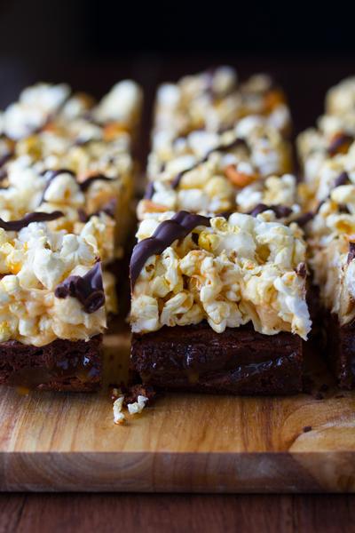 Loaded Popcorn Brownies Recipelion Com