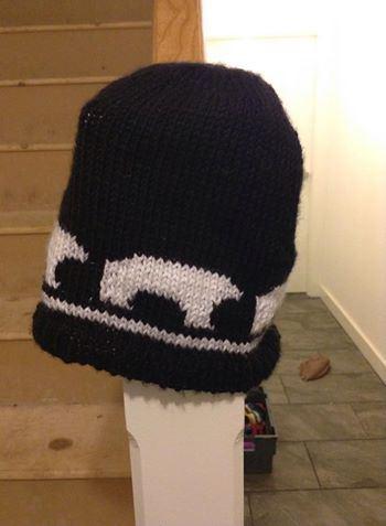 Polar Bear Pattern Knit Hat AllFreeKnitting.com