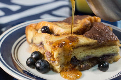 Slow Cooker Blueberry Overnight French Toast
