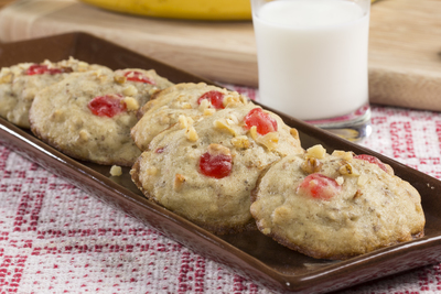 Banana Cherry Cookies