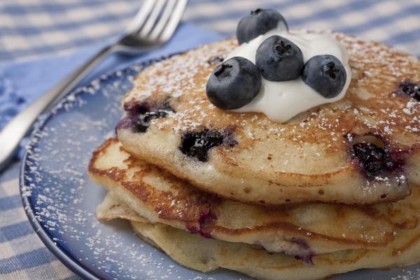 Blueberry Buttermilk Pancakes | MrFood.com