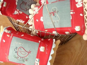 Christmas Embroidery Pillow Covers