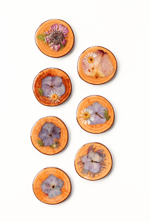 Dried Flower Coasters