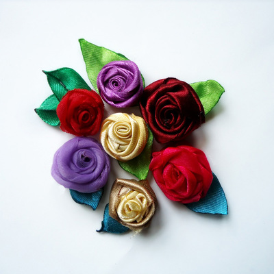 Rolled Ribbon Rose