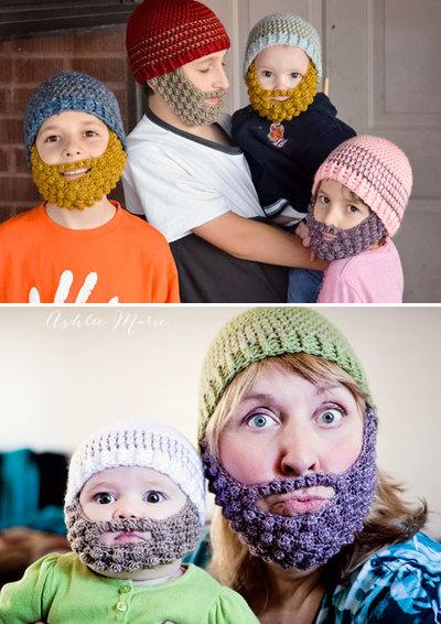 Fun Bobble Beard Baby Hat Crochet Pattern Favecrafts Com