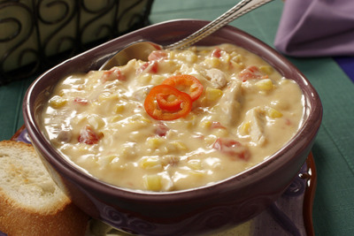 Cheesy Chicken Corn Soup