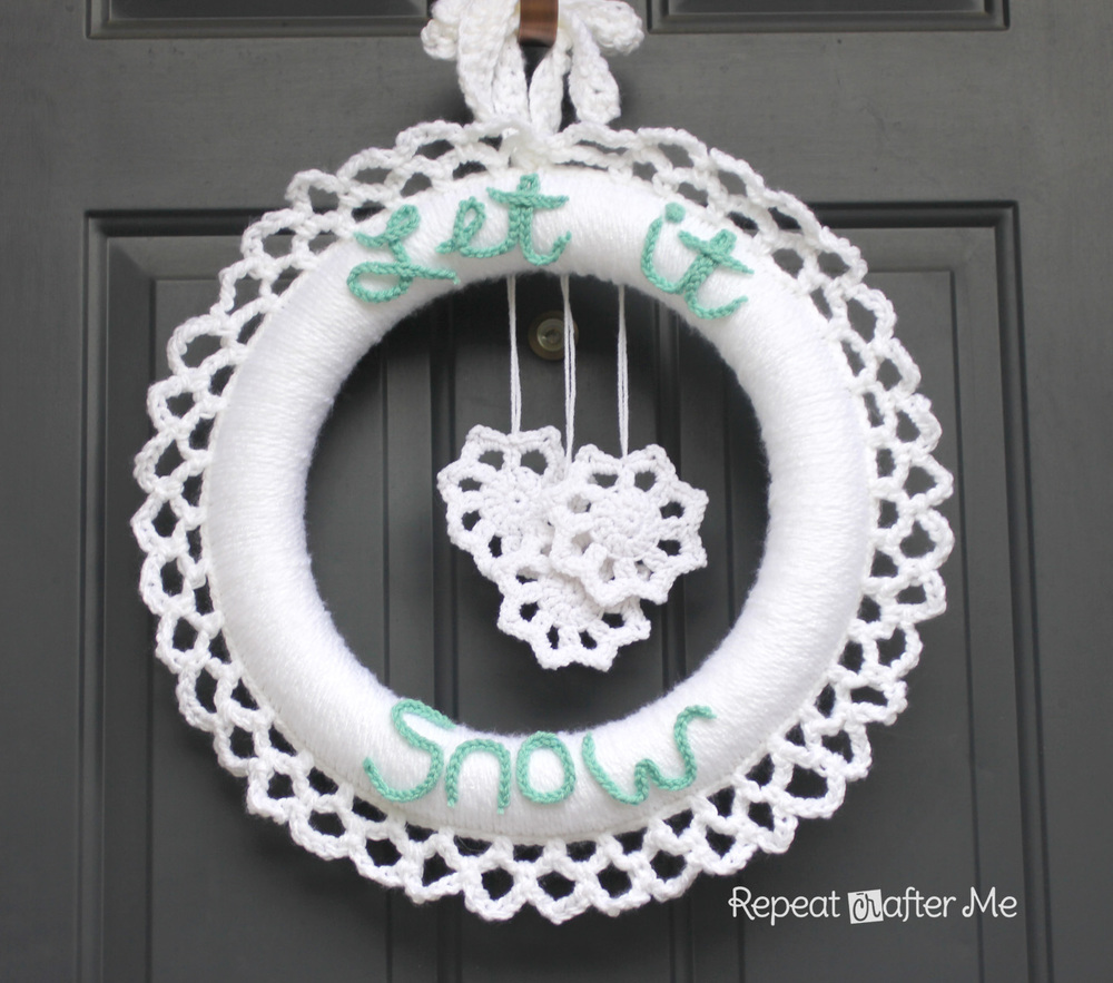 Crochet Winter Wreath Allfreecrochet Com