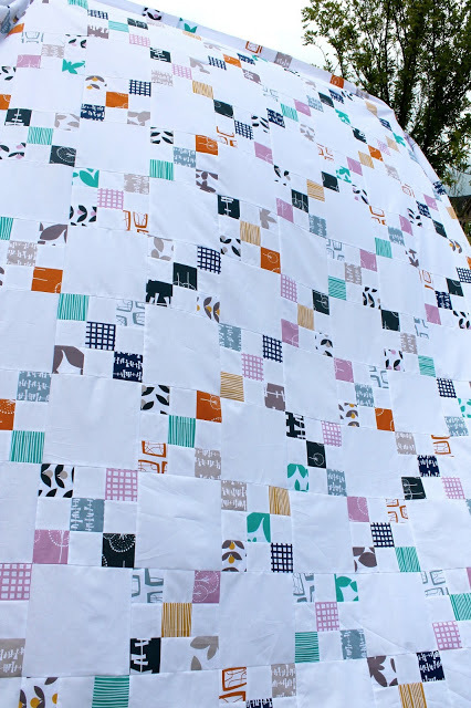 A Lotta Nines Irish Chain Quilt Favequilts Com