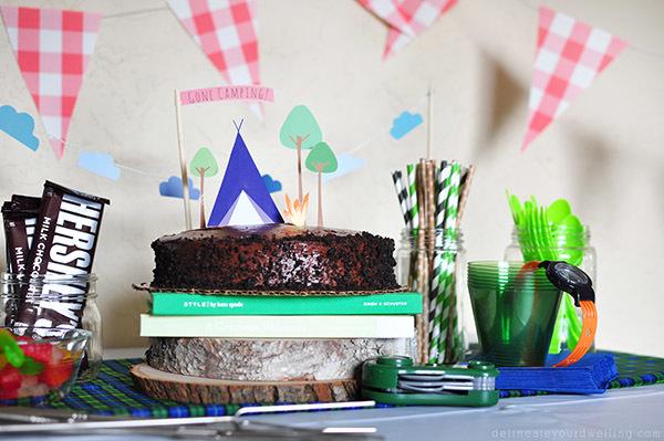 Camping Themed Birthday Cake Printables