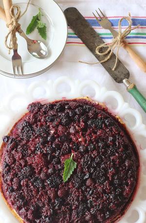 Triple Berry Upside-Down Cake