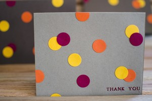Polka Dot DIY Greeting Card