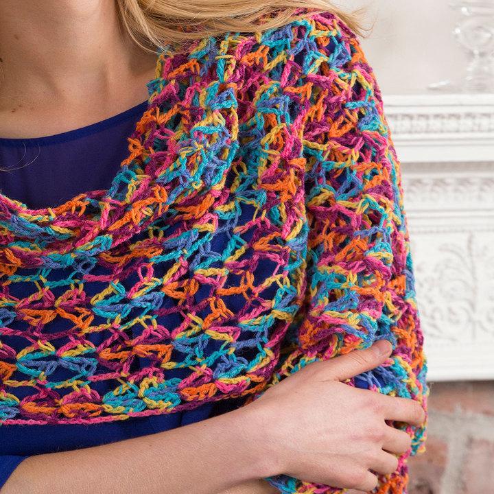 Neon Light Crochet Shawl Allfreecrochet Com