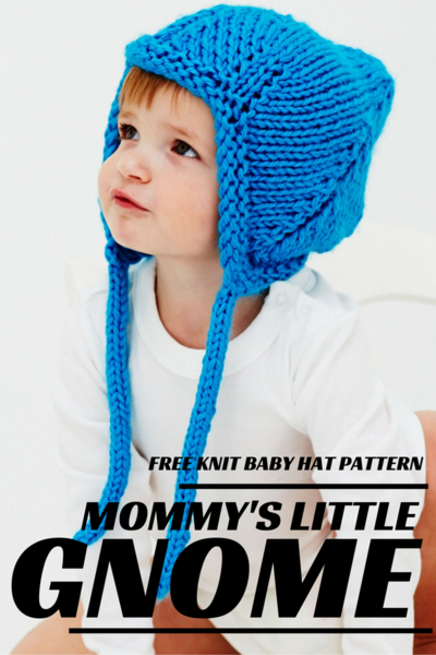 Mommys Little Gnome Knit Baby Hat Pattern