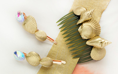 Beach Goddess DIY Seashell Clips
