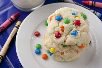 M&M Drop Cookies