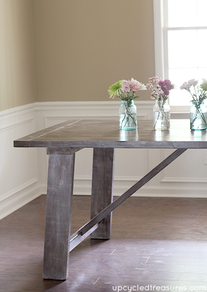 West Elm-Inspired Rustic Dining Room Table