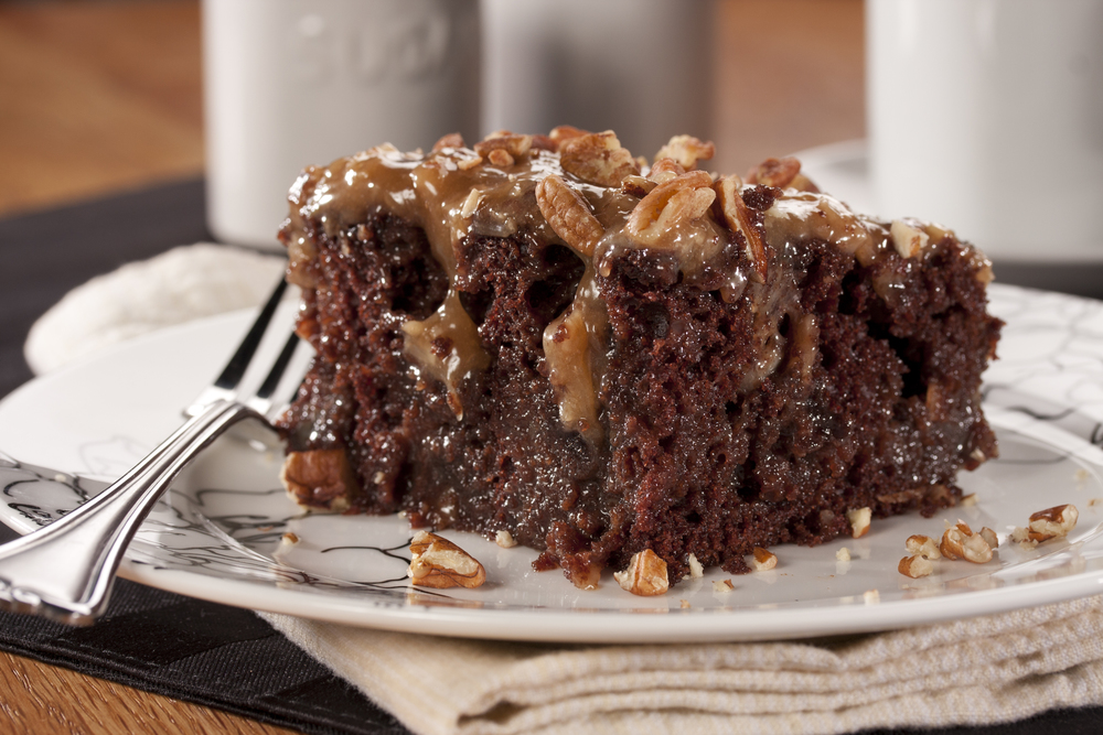 Chocolate Cake With Sweetened Condensed Milk And Caramel
