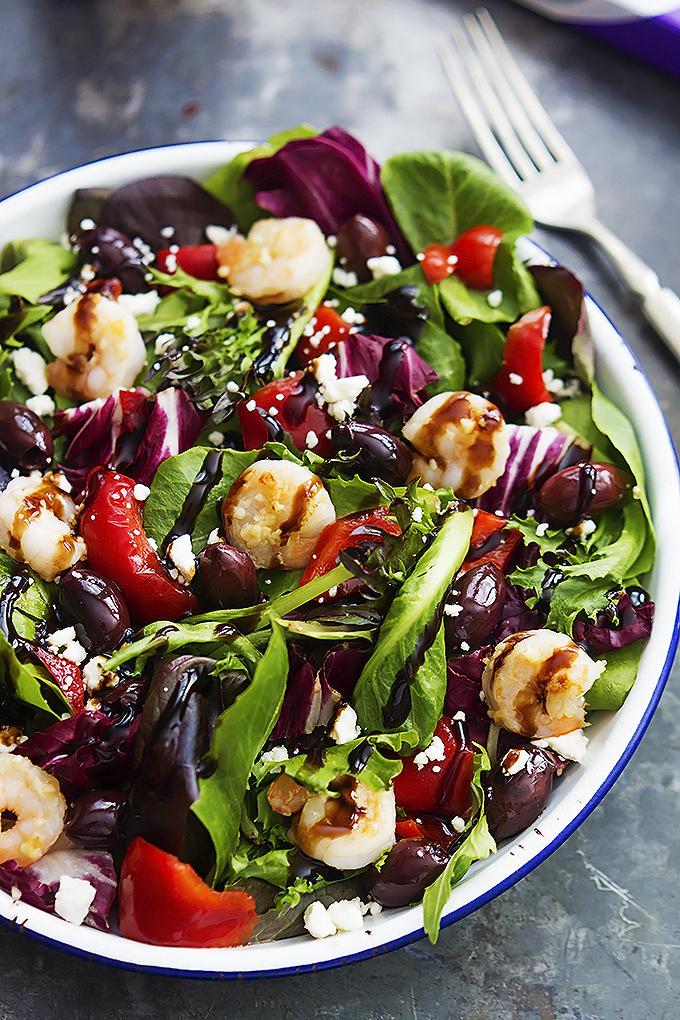 Mediterranean Garlic Shrimp Salad Recipelion Com