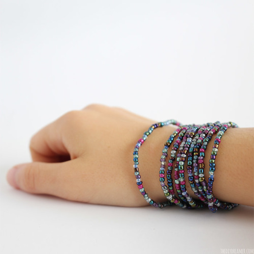 Easy beaded bracelets for Bead craft ideas for kids