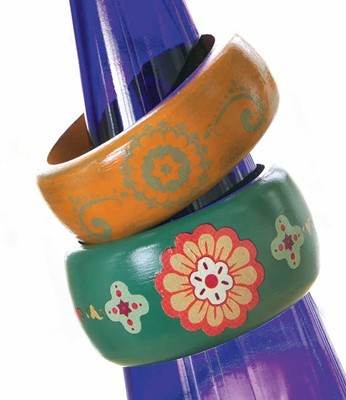 Painted Moroccan Bangles