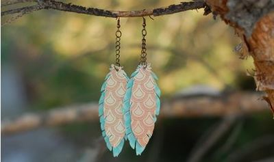 DIY Paper Feather Earrings