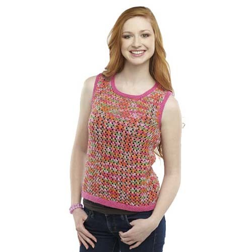 Knitting Tops Patterns : Colorful summer days knit tank top pattern