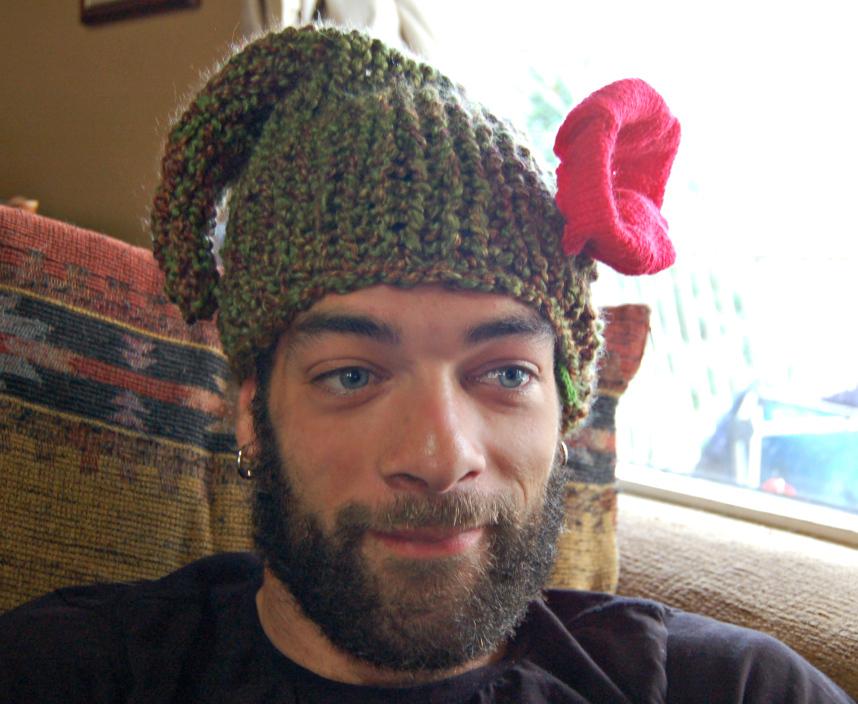 Knitting Pattern For Dwarf Hat : Woodland Dwarf Hat AllFreeKnitting.com