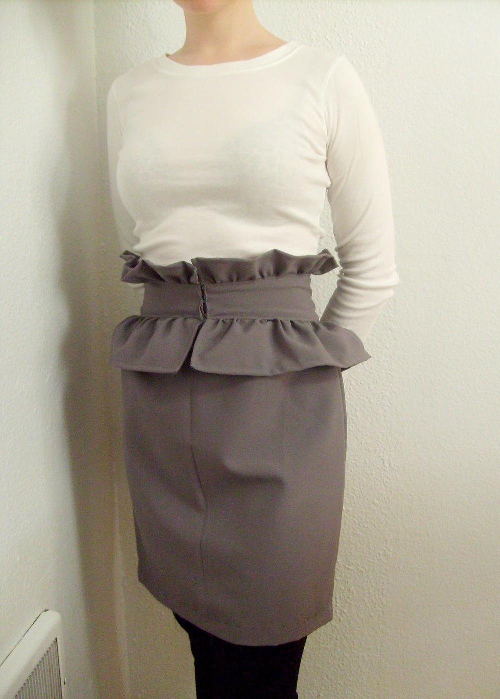 Ruffled Peplum Skirt Tutorial Allfreesewing Com