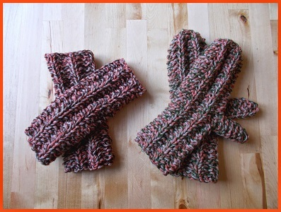 Knitting Pattern For Double Mittens : Double Trouble Knitting Patterns for Mittens and Fingerless Gloves AllFreeK...