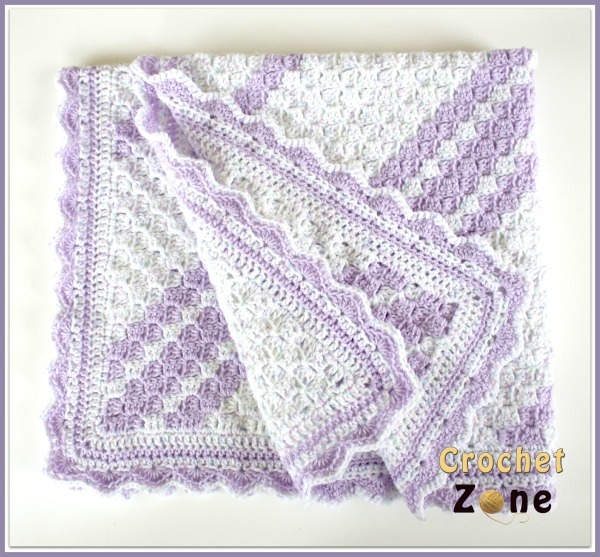 Free Crochet Baby Blanket Patterns Simple Baby Blankets : Lavender Baby Blanket Crochet Pattern AllFreeCrochet.com