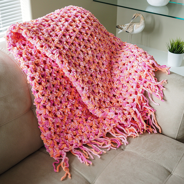 Free Crochet Patterns Using Afghan Stitch : Quick n Cozy Crochet Afghan AllFreeCrochet.com