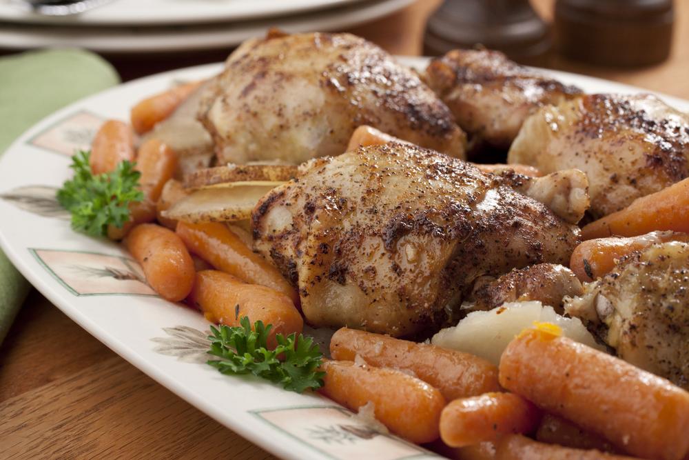 Braised Chicken Thighs Dinner | MrFood.com