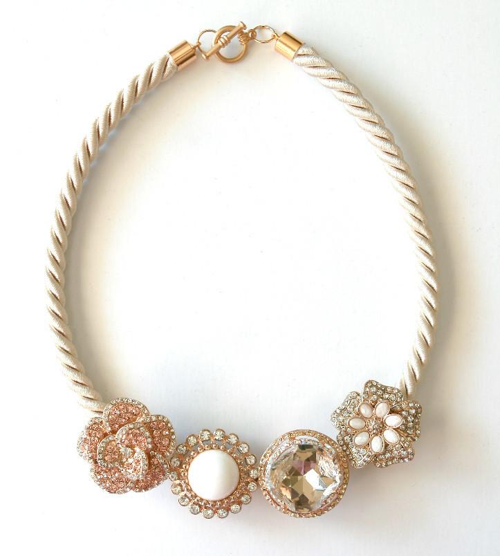 Shimmering DIY Statement Necklace | AllFreeJewelryMaking.com