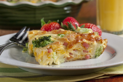Broccoli and Ham Quiche