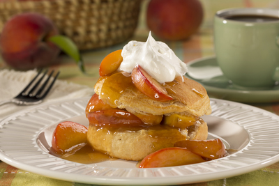 Peaches Foster Shortcake