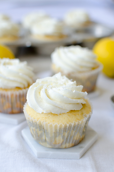 Lemon Curd Stuffed Cupcakes | AllFreeHolidayCrafts.com