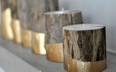 gold dipped diy wood candle holders diyideacenter