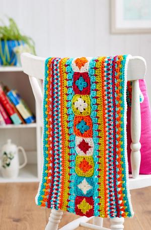 Rainbow Stripes Beginner Crochet Blanket