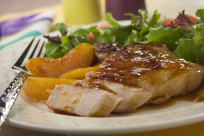 Peach Glazed Pork