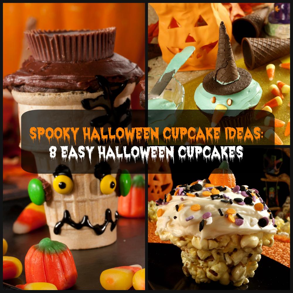 Spooky Halloween Cupcake Ideas 8 Easy Halloween Cupcakes Mrfood Com