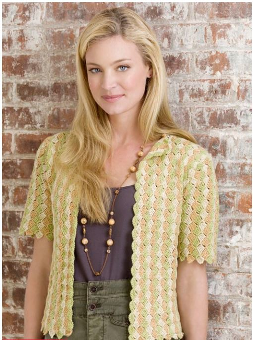 587185e8a 1941 Shell Stitch Crochet Cardigan Pattern