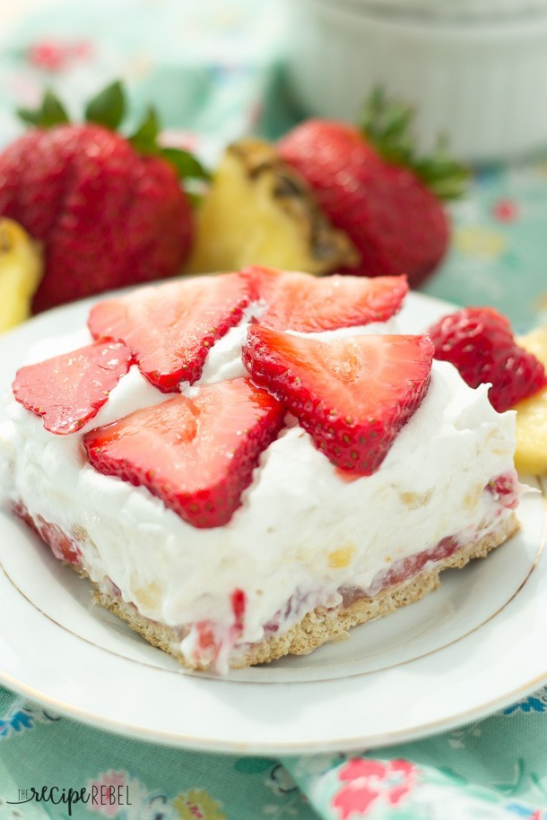 Light Strawberry Pineapple Cheesecake Recipelion Com