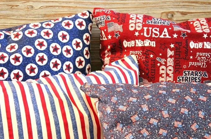 Patriotic Throw Pillows Allfreesewing Com