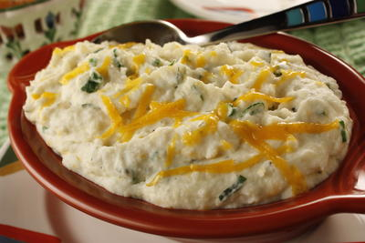 Cheesy Herbed Mashed Potatoes